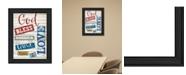 "Trendy Decor 4U God Bless America By Marla Rae, Printed Wall Art, Ready to hang, Black Frame, 14"" x 18"""