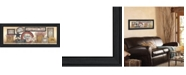 """Trendy Decor 4U Sign Collector By Linda Spivey, Printed Wall Art, Ready to hang, Black Frame, 39"""" x 15"""""""