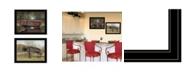 "Trendy Decor 4U Trendy Decor 4U Bridge Collection I 2-Piece Vignette by Billy Jacobs, Black Frame, 27"" x 21"""