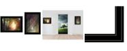 "Trendy Decor 4U Path of Happiness 2-Piece Vignette by Martin Podt, Black Frame, 21"" x 15"""