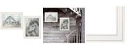"Trendy Decor 4U True Spirit Horses 2-Piece Vignette by Debi Coules, White Frame, 15"" x 19"""