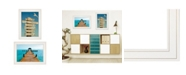 "Trendy Decor 4U Beach Nautical 2-Piece Vignette by Graffitee Studios, White Frame, 21"" x 19"""