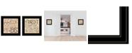 "Trendy Decor 4U Together / Each Other 2-Piece Vignette by Deb Strain, Black Frame, 15"" x 15"""