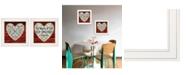 """Trendy Decor 4U Love is Patient / Measure 2-Piece Vignette by Cindy Jacobs, White Frame, 15"""" x 15"""""""