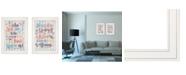 "Trendy Decor 4U Who You Think 2-Piece Vignette by Susan Ball, White Frame, 15"" x 19"""