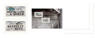 "Trendy Decor 4U Fishing Combo 2-Piece Vignette by Robin-Lee Vieira, White Frame, 20"" x 11"""