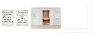 "Trendy Decor 4U Great Love 2-Piece Vignette by Annie LaPoint, White Frame, 14"" x 18"""