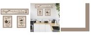 "Trendy Decor 4U Kitchen Friendship Collection III 3-Piece Vignette by Millwork Engineering, Taupe Frame, 33"" x 10"""