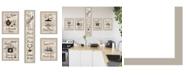 """Trendy Decor 4U Kitchen Friendship Collection 5-Piece Vignette by Millwork Engineering, Sand Frame, 10"""" x 32"""""""