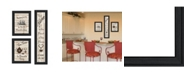 "Trendy Decor 4U The Kitchen Collection II 3-Piece Vignette by Millwork Engineering, Black Frame, 11"" x 33"""