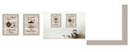"Trendy Decor 4U Enjoy Tea Time 2-Piece Vignette by Millwork Engineering, Sand Frame, 14"" x 10"""