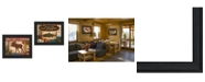 """Trendy Decor 4U Lodge I Collection By Mollie B., Printed Wall Art, Ready to hang, Black Frame, 36"""" x 14"""""""