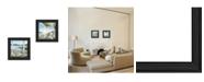 "Trendy Decor 4U Trendy Decor 4U Lake Side Collection By John Rossini, Printed Wall Art, Ready to hang, Black Frame, 28"" x 14"""