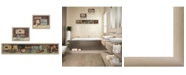 """Trendy Decor 4U Country Bath I Collection By Pam Britton, Printed Wall Art, Ready to hang, Beige Frame, 66"""" x 17"""""""