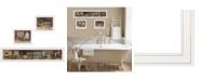 "Trendy Decor 4U COUNTRY BATH II 3-Piece Vignette by Pam Britten, White Frame, 39"" x 14"""