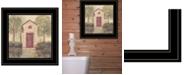 "Trendy Decor 4U Folk Art Outhouse III by Pam Britton, Ready to hang Framed Print, Black Frame, 15"" x 15"""