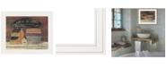"Trendy Decor 4U HOT BATH by Pam Britton, Ready to hang Framed print, White Frame, 17"" x 14"""