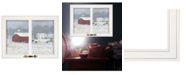 """Trendy Decor 4U Trendy Decor 4U The Home Place by Bonnie Mohr, Ready to hang Framed Print, White Window-Style Frame, 19"""" x 15"""""""
