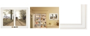 """Trendy Decor 4U Heading Home by Billy Jacobs, Ready to hang Framed Print, White Window-Style Frame, 19"""" x 15"""""""