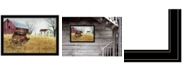 """Trendy Decor 4U Granddad's Old Truck by Billy Jacobs, Ready to hang Framed Print, Black Frame, 33"""" x 23"""""""