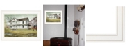 "Trendy Decor 4U Trendy Decor 4U April Showers by Billy Jacobs, Ready to hang Framed Print, White Frame, 19"" x 15"""
