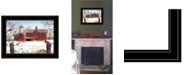 "Trendy Decor 4U Trendy Decor 4U Winter Friends by Billy Jacobs, Ready to hang Framed Print, Black Frame, 19"" x 15"""