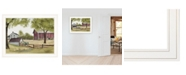 """Trendy Decor 4U The Old Spring House by Billy Jacobs, Ready to hang Framed Print, White Frame, 27"""" x 21"""""""