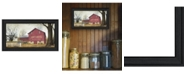 """Trendy Decor 4U Antique Barn By Billy Jacobs, Printed Wall Art, Ready to hang, Black Frame, 21"""" x 12"""""""
