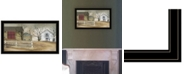 """Trendy Decor 4U The Old Stone Barn by Billy Jacobs, Ready to hang Framed Print, Black Frame, 33"""" x 19"""""""
