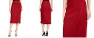Anne Klein Faux-Wrap Pencil Skirt