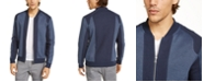 INC International Concepts INC Men's Pieced Colorblocked Textured Knit Bomber Jacket, Created For Macy's