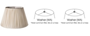 Cloth&Wire Slant Pencil Pleat Softback Lampshade with Washer Fitter