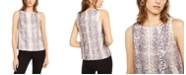 INC International Concepts INC Petite Snake-Print Sequined Top, Created For Macy's