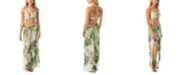 Vince Camuto Tropical Palm Printed Cover-Up Side-Slit Pants