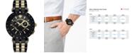 Versace Men's Swiss V-Race Two-Tone Stainless Steel Bracelet Watch 46mm