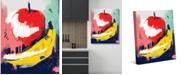 "Creative Gallery Still Life Apple Banana Abstract 20"" x 16"" Canvas Wall Art Print"