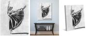 "Creative Gallery Ballet Balance in Black White 20"" x 16"" Canvas Wall Art Print"