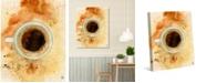 "Creative Gallery Blue Mountain Coffee Watercolor 36"" x 24"" Canvas Wall Art Print"