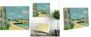 "Creative Gallery Port De Sauzon France 36"" x 24"" Canvas Wall Art Print"