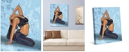 """Creative Gallery Yoga Pose Four in Blue 20"""" x 16"""" Canvas Wall Art Print"""