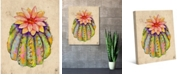 """Creative Gallery Sunny Cactus Flower Watercolor 20"""" x 16"""" Canvas Wall Art Print"""