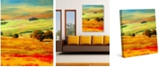 """Creative Gallery Tuscany Meadow Abstract Landscape 20"""" x 16"""" Canvas Wall Art Print"""