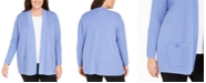 Anne Klein Plus Size Open-Front Patch-Pocket Cardigan