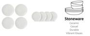 Lenox Textured  Neutrals Dobby Accent Plates Set/4