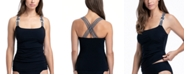 Profile by Gottex Set Sail Ruched Underwire Tummy Control Tankini Top