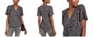 Michael Kors Chain-Print Top, Regular & Petite Sizes