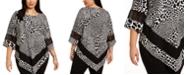 Alfani Plus Size Printed Crochet-Trim Top, Created for Macy's