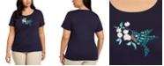 Karen Scott Plus Size Cotton Hummingbird Top, Created For Macy's