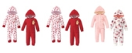 Hudson Baby Baby Girl Fleece Coveralls and Jumpsuits, Set of 2