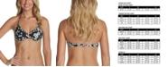 Raisins Juniors' Las Flores Splash Ruffled Underwire Halter Bikini Top